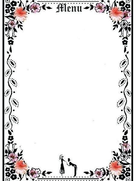 Blank Fancy Menu Template Printables And Menu With Blank Fancy