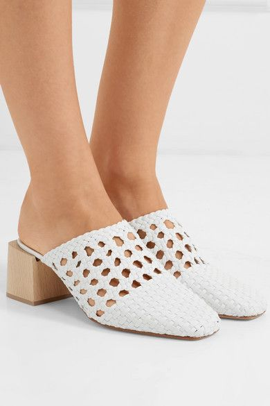 da5d5f0891ab3 LOQ - Ines woven leather mules in 2019   shoes   Leather mules ...