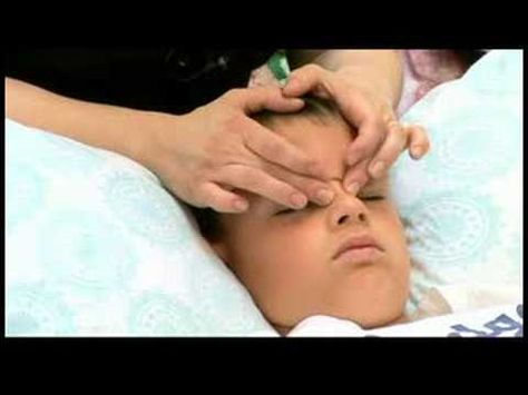 When massaging the face of a child to treat sinus ...