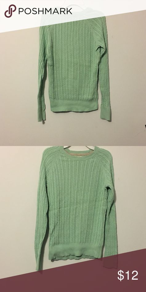 Sonoma Mint cable knit Sweater like new condition. never worn before. Super cute knit sweater feel free to make an offer! Sonoma Sweaters Crew & Scoop Necks