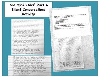 Looking For A Fun And Engaging Way To Discus Part 4 Of The Book Thief By Marku Zusak Thi Product Offer Great Activity Activities Essay Questions Question