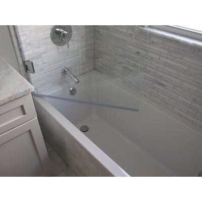 Ark Showers 33 5 X 60 Hinged Frameless Tub Door With Clearshield