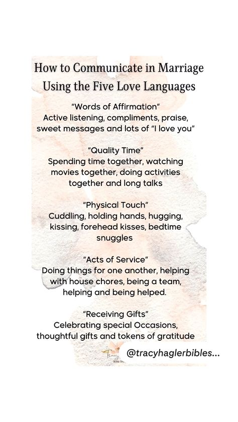 How to communicate in marriage using the five love languages. Inspirational Quotes for Marriage
