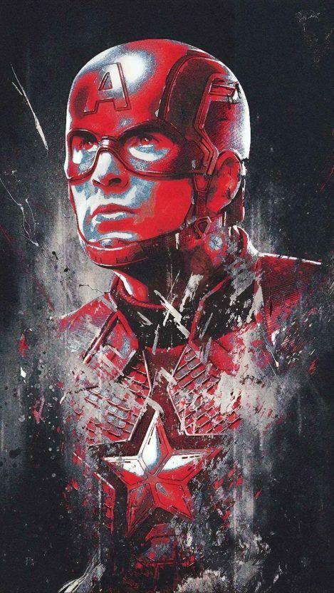 Avengers Endgame Captain America Red Art Iphone Wallpaper Iphone