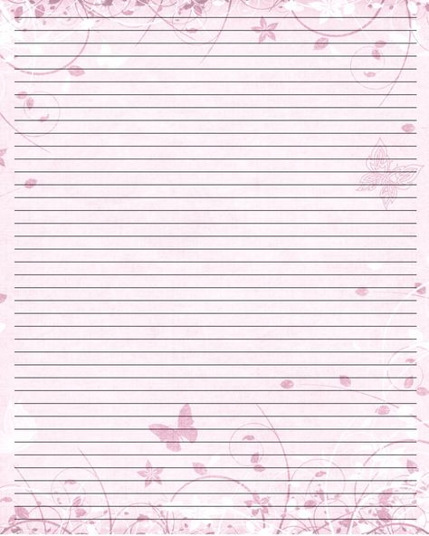 Butterfly Print Paper Printable Writing Paper (44) by u003dLady - college ruled lined paper template