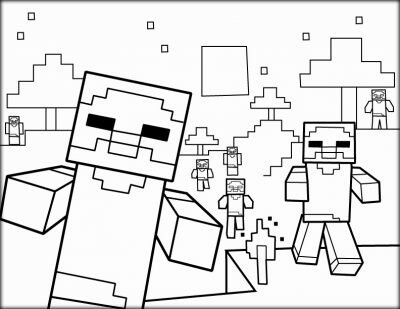 Minecraft Pig and Friend coloring page Minecraft Coloring eBook 1 - new coloring pages of the diamond minecraft