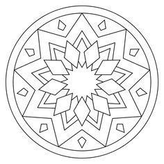Simple Mandala Coloring Sheets Easy Mandala Coloring Pages ...