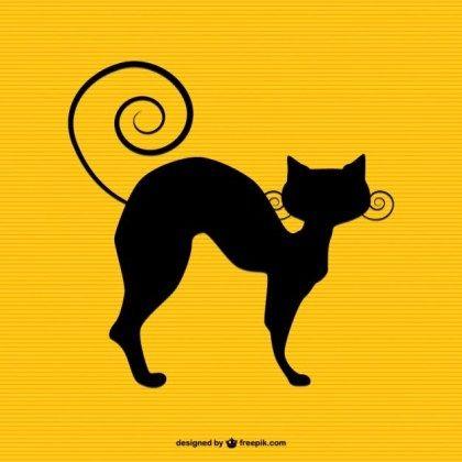 30 Cat Silhouette Vectors Download Free Vector Art Graphics 123freevectors Katzen Silhouette Katzen Silhouette