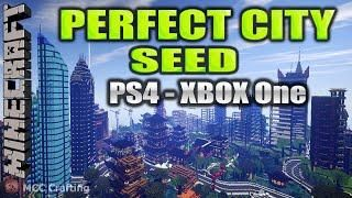MINECRAFT PERFECT CITY SEED Number FLAT PLAINS RIVERS NATURAL SEED