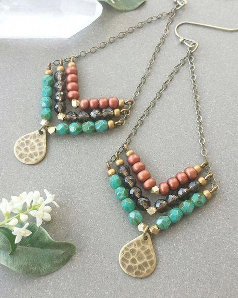 Pompeii Beaded Stick Necklace
