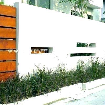 Modern Concrete Wall Fence Design Per Compound Wall Design Compound Wall Concrete Fence