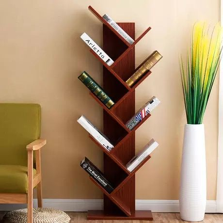 Bookcases Living Room Furniture Home Furniture Tree Shape Bookshelf Multi Size Book Stand W Bookshelf Design Minimalist Bookshelves Cheap Living Room Furniture