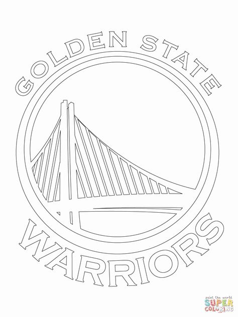 Golden State Warriors Coloring Page Fresh Golden State Warriors