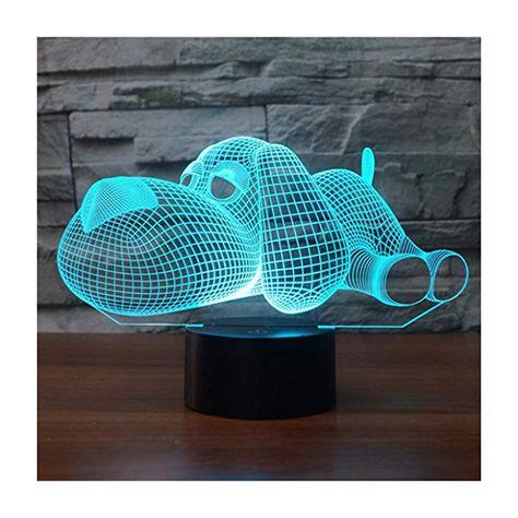 Lampe Chien 3d Avec Images Lampes De Nuit Lamp Deco Enfant