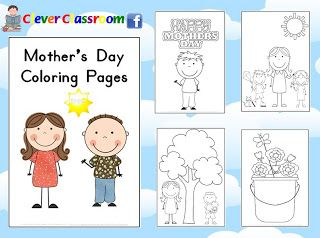 Free coloring pages for Mother's Day