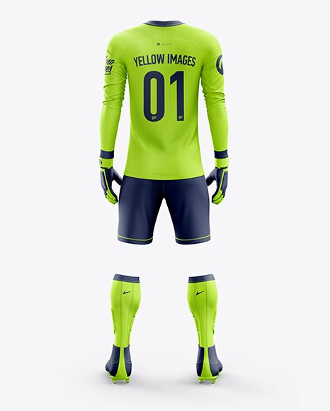 Download Men S Full Soccer Goalkeeper Kit Mockup Back View In Apparel Mockups On Yellow Images Object Mockups Clothing Mockup Goalkeeper Kits Shirt Mockup