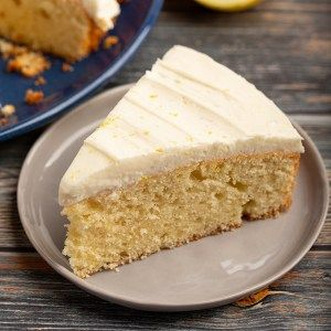 One Layer Lemon Sour Cream Cake The Missing Lokness Recipe In 2020 Lemon Sour Cream Cake Sour Cream Cake Easy Delicious Cakes