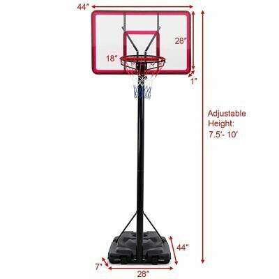 Advertisement Ebay Durable 10 Height Adjustable Hoop Stand Basketball Backboard W Wheels Basketball Backboard Height Adjustable Adjustable Basketball Hoop