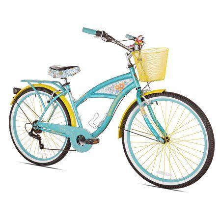 Bca 26 Margaritaville Multi Speed Cruiser Women S Bike Teal Walmart Com In 2020 Cruiser Bike Womens Bike Margaritaville Bike