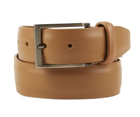 Cowhide Rectangular Solid Leather Black /& Brown Reversible 32 mm Mens 1 1//4