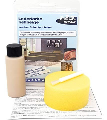1 2 3 Repair Couleur Pour Le Reparation En Cuir Simili Cuir I Teinture Cuir Beige Leather Working
