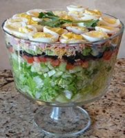 Baby Shower Food Idea We Could Layer The Salad.it Would Look Great For A  Rainbow Theme!