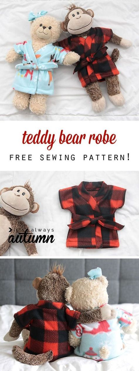 free pattern for easy to sew teddy bear clothes (build-a-bear ...