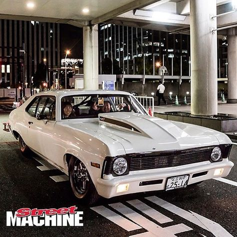 Hot Wheels - Man you can find cool American muscle anywhere, check this beast just out rolling in Japan, so cool! 📷 @streetmachinemag #chevrolet #nova #americanmuscle #musclecar #prostreet #protouring...