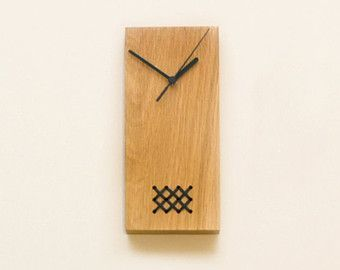 Horloge En Bois Noir Bois Horloge Horloge De Bureau Brode