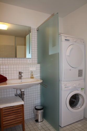Badezimmer Waschmaschine Trockner Trockner Auf Waschmaschine