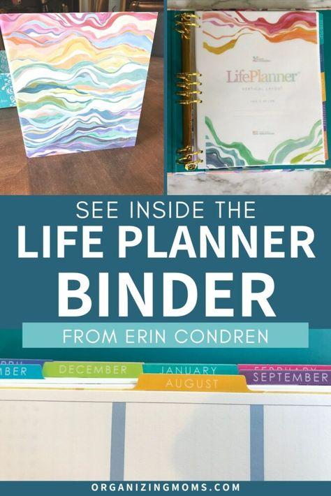 Erin Condren Life Planner Binder Review Organizing Moms In 2020 Life Planner Binder Erin Condren Life Planner Life Planner