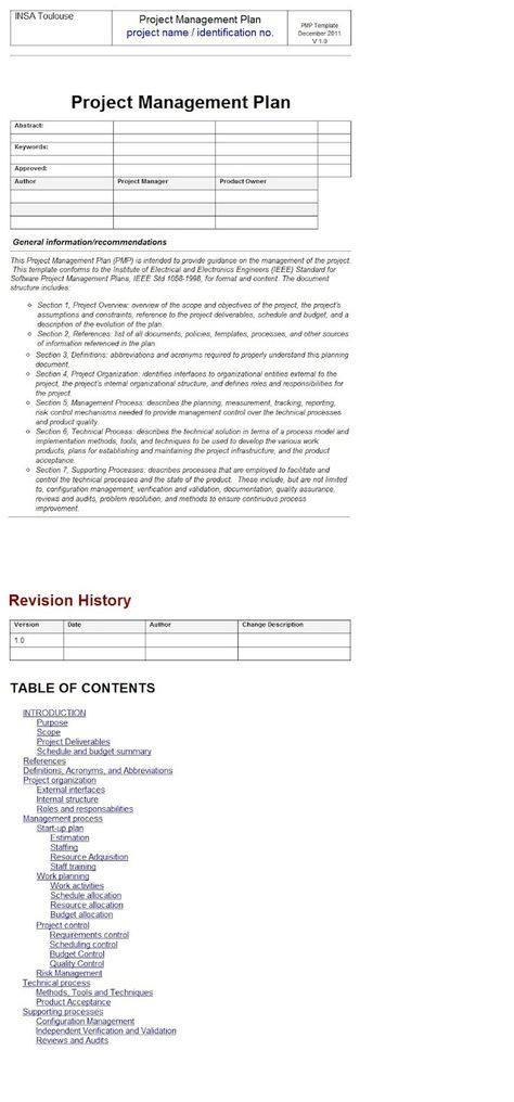 Project Report Template ExcelTemple Excel Project Management - validation plan template