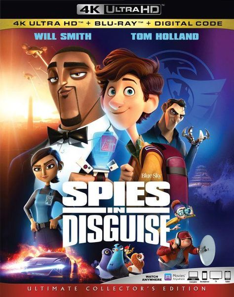 Spies in Disguise [Includes Digital Copy] [4K Ultra HD Blu-ray] [2019]