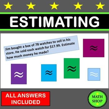 Rounding and Estimating | Word problems, Geometry problems ...