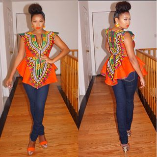 Fleeky dashiki. ~African fashion, Ankara, kitenge, African women dresses, African prints, African men's fashion, Nigerian style, Ghanaian fashion ~DKK