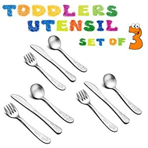 Toddlers Kids Utensils Silverware Set E Far 9 Piece Stainless Steel Baby Preschooler Cutlery Silverware Set Kid Utensils Cutlery Set