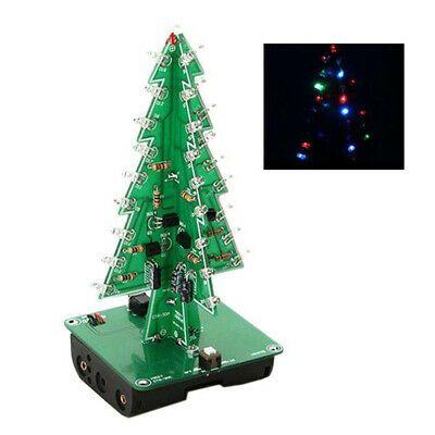 Gift Christmas Tree 3d Tree Toy Diy Kit Electronic Led Flash Circuit Parts Ga Diy Kits Diy Toys 3d Tree