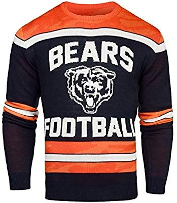 new concept 7038b 745c9 Amazon.com : Chicago Bears Ugly Glow In The Dark Sweater ...