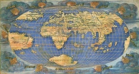 1500 1600s World Map Old Maps Map Old Maps Chart