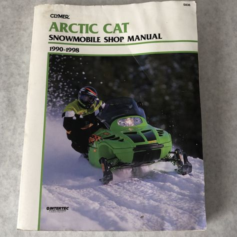 Arctic Cat Snowmobile Shop Manual 1990 1999 Clymer Reference Repair Book Troubleshooting Maintenance Tune Up Storage Wiring Cooling In 2020 Clymer Arctic Snowmobile
