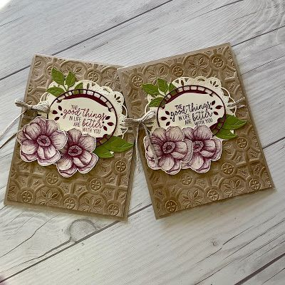Stamped Sophisticates Cards Handmade Stampin Up Tin Tiles