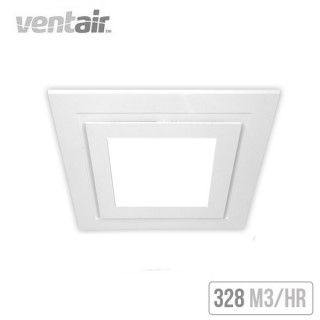 Ventair Airbus Square With Led Light 250 Ceiling Exhaust Fan White Exhaust Fan Ceiling Exhaust Fan Exhaust Fan Light
