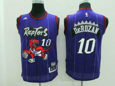 da407383b Toronto Raptors  10 Derozan Kids raptors throwback Rev30 jersey ...