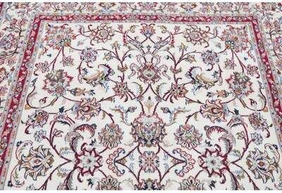 World Menagerie One Of A Kind Hyler Floral Persian Hand Knotted 6 4 X 8 3 Wool Red Beige Area Rug World Menagerie Area Rugs Beige Area Rugs Rugs