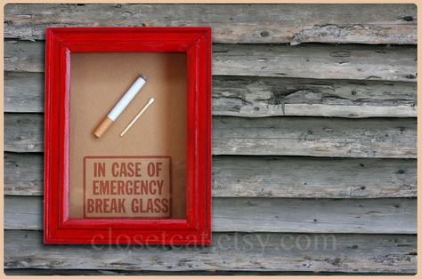 Smokers Gift Emergency Case Funny Birthday By ClosetCat I COULD DO THIS FOR DIABETES Could Put A Candybar Inside Instead