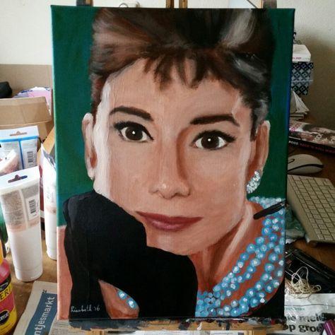 Audrey Hepburn  Original acrylic #painting ☺