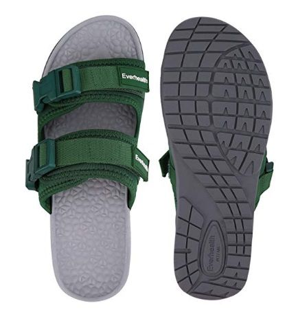 EVERHEALTH Men/'s Orthotic Flip Flops Thong Sandals with Comfort Arch Support