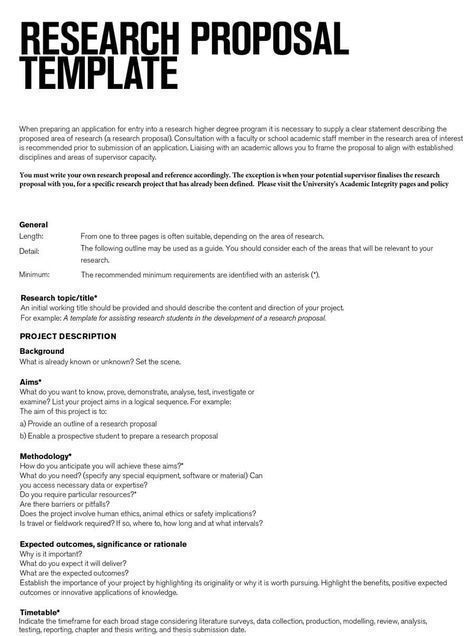 Research Proposal Template Free Download Create Edit Writing A Example Dissertation Timetable