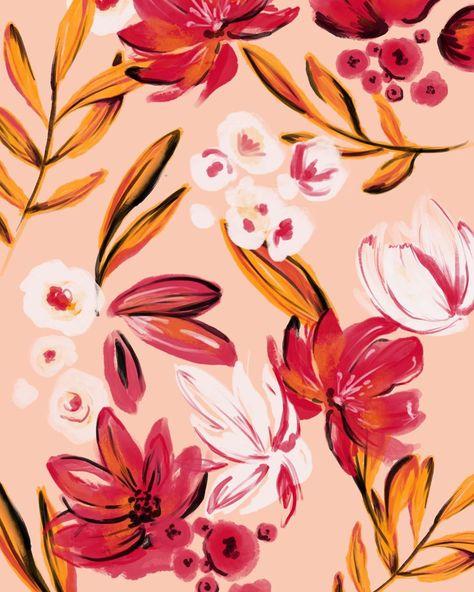 @elizabethrach.print floral surface pattern design