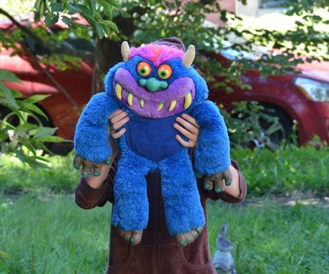 Vintage My Pet Monster Plush Doll Stuffed Toy Stuffed Animal Toymax